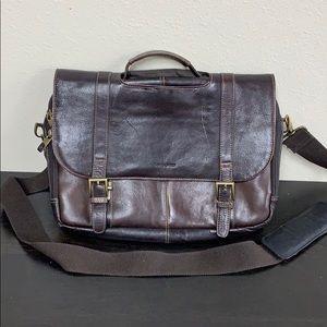 Genuine Samsonite Leather Laptop/Messenger Bag